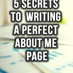 ow to write a perfect about me page