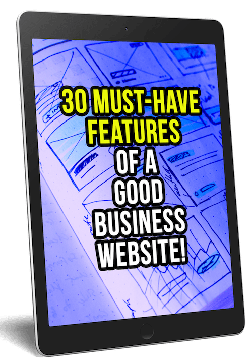 Here are 30 proven features of a good business website to help you get more sales, conversions and a better overall experience for your website visitors.  #websitedesign #websitemarketing #websitetraffic #smallbusiness #digitalmarketing #onlinemarketing #marketingtips #smallbusinessowner #webdesigners #webdesign #bloggingtips