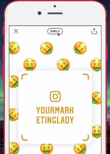 how to add emoji to instagram name tag