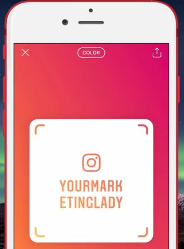 how to use instagram nametags for business