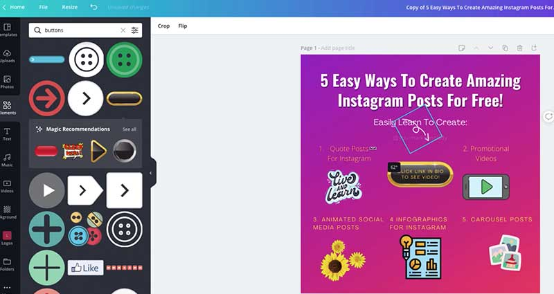 how to use canva for instagram infographics